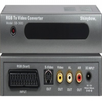 CONVERTER SB-3680 SCART-RGB To S-VIDEO|VIDEO|AUDIO
