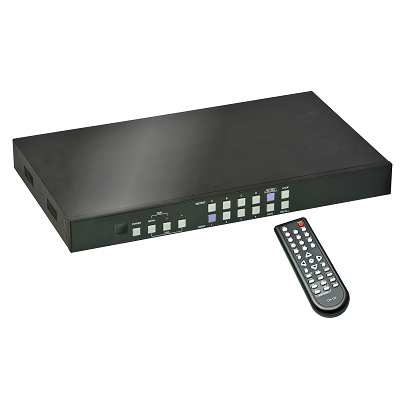 LINDY 38131 - 4x4 HDMI Matrix Switch with Video Wall Scaling