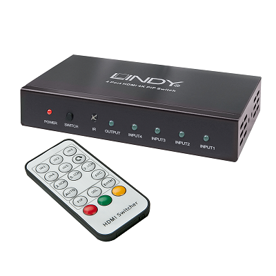 LINDY 38151 - HDMI 4K Switch, 4 Port