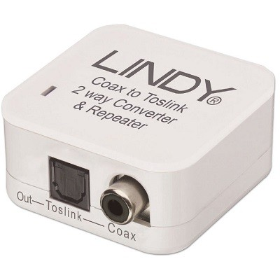 LINDY 70411 - SPDIF Digital - Toslink Audio Converter and Repeater