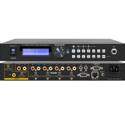 Shinybow SB-5604UA 4:2 HDMI 4K2K Routing Switcher with Mic - Aux