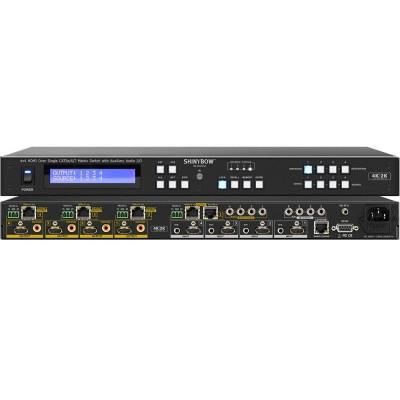 Shinybow SB-5645CAK (4K) 4x4 HDMI HDBaseT Matrix Switch Auxiliary Audio
