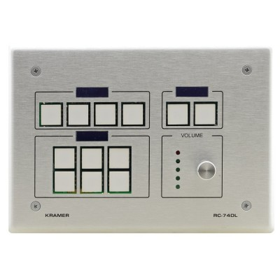 12–button Ethernet and KNET Control Keypad with Knob and Displays Kramer RC-74DL